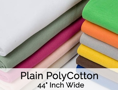 Plain PolyCotton 44 Inch Wide