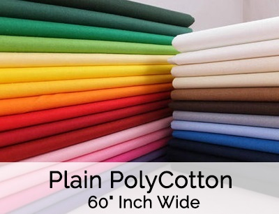 Plain PolyCotton 60 Inch Wide