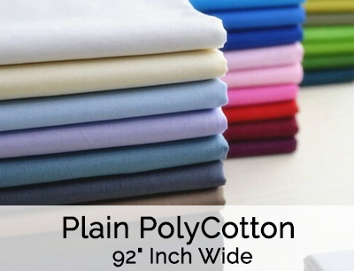 Plain PolyCotton 92 Inch Wide